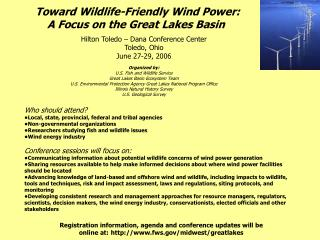 Toward Wildlife-Friendly Wind Power: A Focus on the Great Lakes Basin