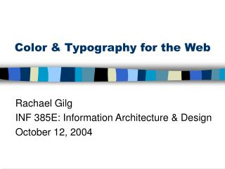 Color & Typography for the Web
