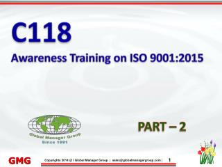 Awareness Training on ISO 9001:2015