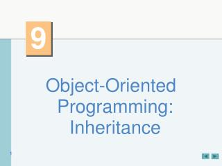Object-Oriented Programming: Inheritance