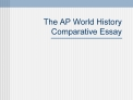 The AP World History Comparative Essay