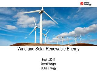Wind and Solar Renewable Energy