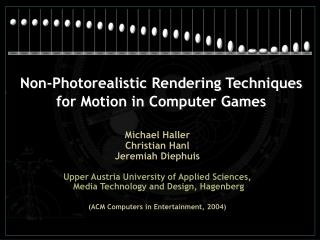Non-Photorealistic Rendering Techniques for Motion in Computer Games