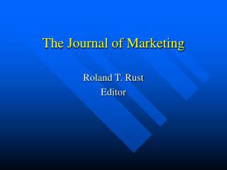 The Journal of Marketing