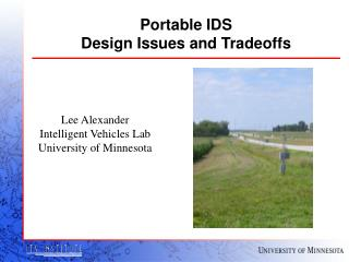 Portable IDS  Design Issues and Tradeoffs
