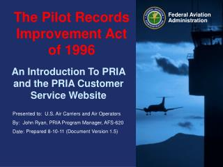 The Pilot Records Improvement Act of 1996