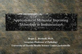 Applications of Molecular Imprinting Technology to Immunoassays