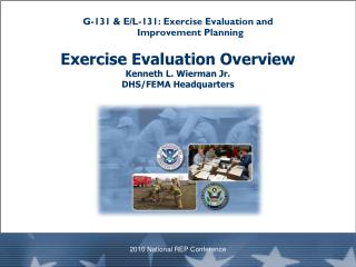 G-131 & E/L-131: Exercise Evaluation and  Improvement Planning