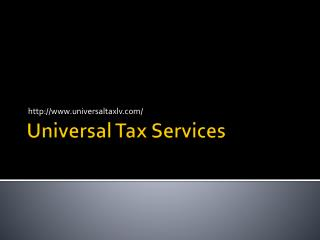 Universal Tax | Payroll - Tax Audits - Las Vegas, NV