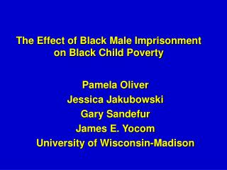 The Effect of Black Male Imprisonment on Black Child Poverty