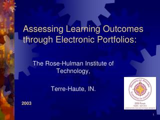 Assessing Learning Outcomes through Electronic Portfolios: