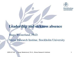 Leadership and sickness absence