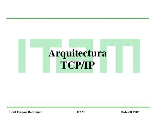 Arquitectura TCP/IP