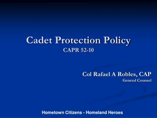Cadet Protection Policy CAPR 52-10