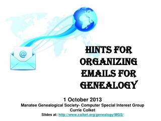 Hints for Organizing Emails for Genealogy