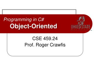Programming in C# Object-Oriented