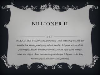 ULASAN GAME BILLIONARE II