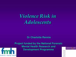 Violence Risk in Adolescents