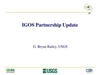 IGOS Partnership Update