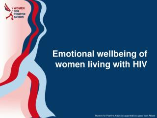 Emotional wellbeing of women living with HIV