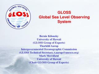 GLOSS Global Sea Level Observing System