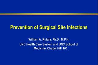 Prevention of Surgical Site Infections