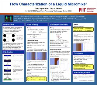 Flow Characterization of a Liquid Micromixer
