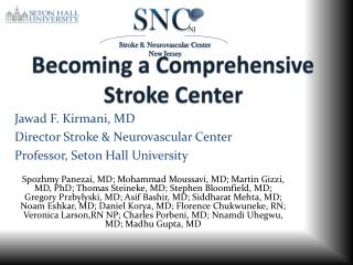 Becoming a Comprehensive Stroke Center