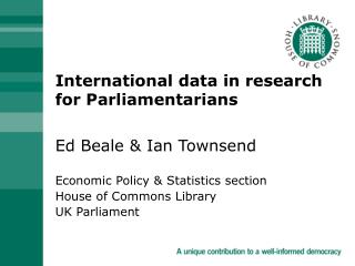International data in research for Parliamentarians