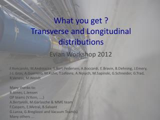 What you get ? Transverse and Longitudinal distributions