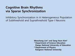 Cognitive Brain Rhythms via Sparse Synchronization