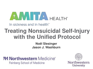 Treating Nonsuicidal Self-Injury with the Unified Protocol