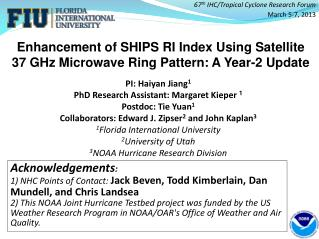 Enhancement of SHIPS RI Index Using Satellite 37 GHz Microwave Ring Pattern: A Year-2 Update