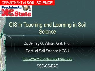 GIS in Teaching and Learning in Soil Science