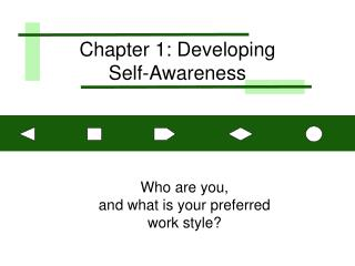 Chapter 1: Developing  Self-Awareness