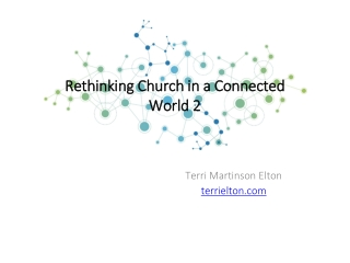 Rethinking Church in a Connected World 2