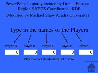 Type in the names of the Players