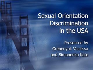 Sexual Orientation Discrimination  in the USA