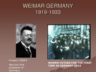 WEIMAR GERMANY 1919-1933