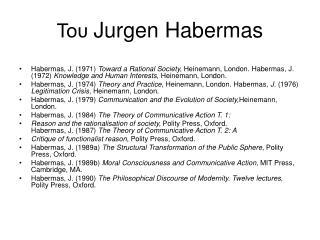 Του Jurgen Habermas