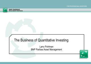 Larry Pohlman BNP Paribas Asset Management