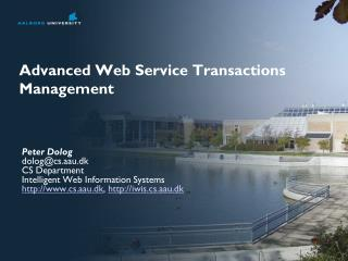 Advanced Web Service Transactions Management