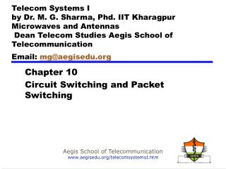 Chapter  10 Circuit Switching  and Packet Switching