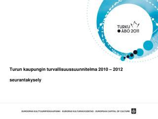 Turun kaupungin turvallisuussuunnitelma 2010  –  2012 seurantakysely