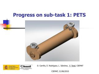 Progress on sub-task 1: PETS