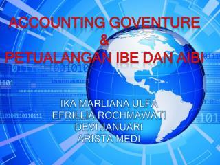 ACCOUNTING GOVENTURE & PETUALANGAN IBE & AIBI