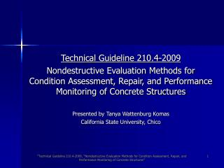 Technical Guideline 210.4-2009