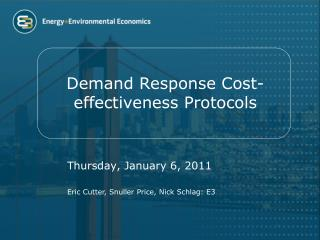Demand Response Cost-effectiveness Protocols
