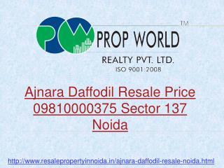 Ajnara Daffodil Resale Price Flats Noida Sector 137, Ready t