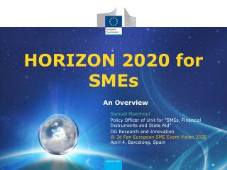 HORIZON 2020 for SMEs